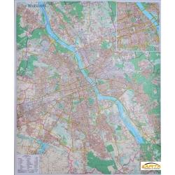 Warszawa 100x116 cm. Mapa ścienna.