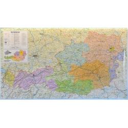 Austria administracyjno-drogowa 103x59 cm. Mapa ścienna.