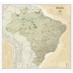 Brazylia eksk. 1:5mln NG Mapa scienna 107x98 cm