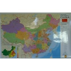 Chiny kodowa 140x100 cm. Mapa ścienna.