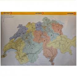 Szwajcaria Kodowa 140x90cm. Mapa scienna