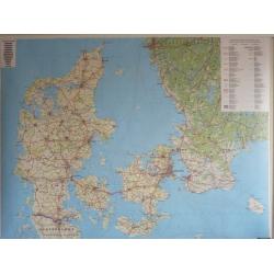 Dania kodowa 138x98cm. Mapa ścienna.