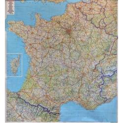 Francja Drogowa 106x96 cm. Mapa ścienna.