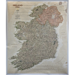 M-DR Irlandia Pól. i Poł. eks. NG Mapa scienna 1:5,5mln 78x92 cm