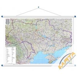 Ukraina ,Mołdawia drogowa145x95 cm. Mapa ścienna