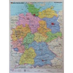 Niemcy administracyjno-drogowa 122x158cm. Mapa ścienna.