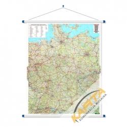 Niemcy drogowa 100x130cm. Mapa ścienna.