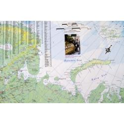Rosja fizyczna 75x100cm. Mapa ścienna dwustronna.