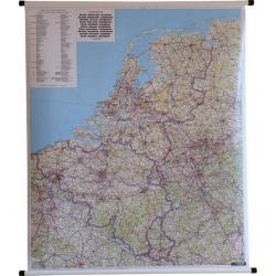 Benelux drog 87x105cm.Mapa ścienna
