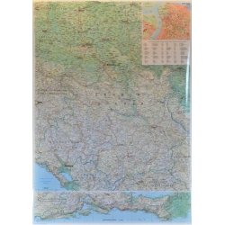 Serbia i Czarogóra Drogowa G1:500ty Mapa scienna GiziMap 81x118cm