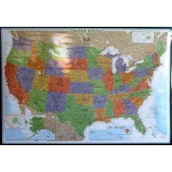 M-DR Stany Zjednoczone USA 1:4,5 ml NG Mapa scienna ozdobna 117x78cm