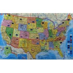 M-DR Stany Zjednoczone USA 1:5,5mlnStief Mapa scienna kodowa 105x61 cm
