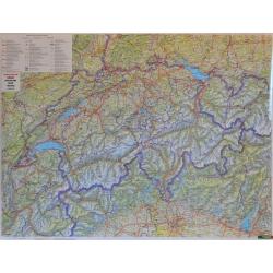 M-DR Szwajcaria drogowa 1:400 tys F&B Mapa scienna 115x84cm
