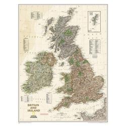 Wielka Brytania i Irlandia exclusive 64x77cm. Mapa ścienna.