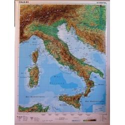 Włochy fizyczna 120x185cm. Mapa ścienna.