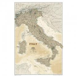 Włochy exclusive 64x88cm. Mapa ścienna.