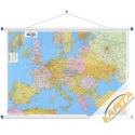 Europa polityczno-drogowa 134x90cm. Mapa ścienna.
