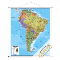 Ameryka Południowa 106x120cm. Mapa ścienna