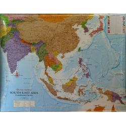 Azja Połud-Wsch 126x96 cm.Mapa ścienna