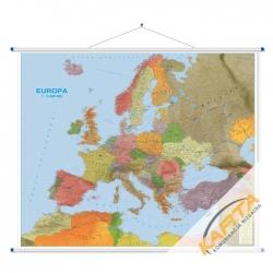 Europa Polityczna-drogowa 120x100cm. Mapa ścienna.
