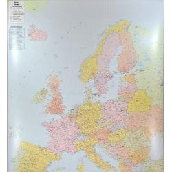 Europa kodowa 150x190cm . Mapa ścienna.