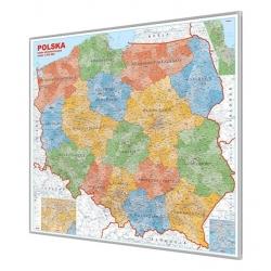 Polska Administracyjna 110x100cm. Mapa do wpinania