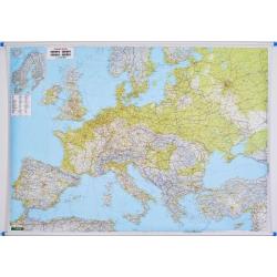Europa Fizyczno-drogowa 180x150cm. Mapa ścienna.