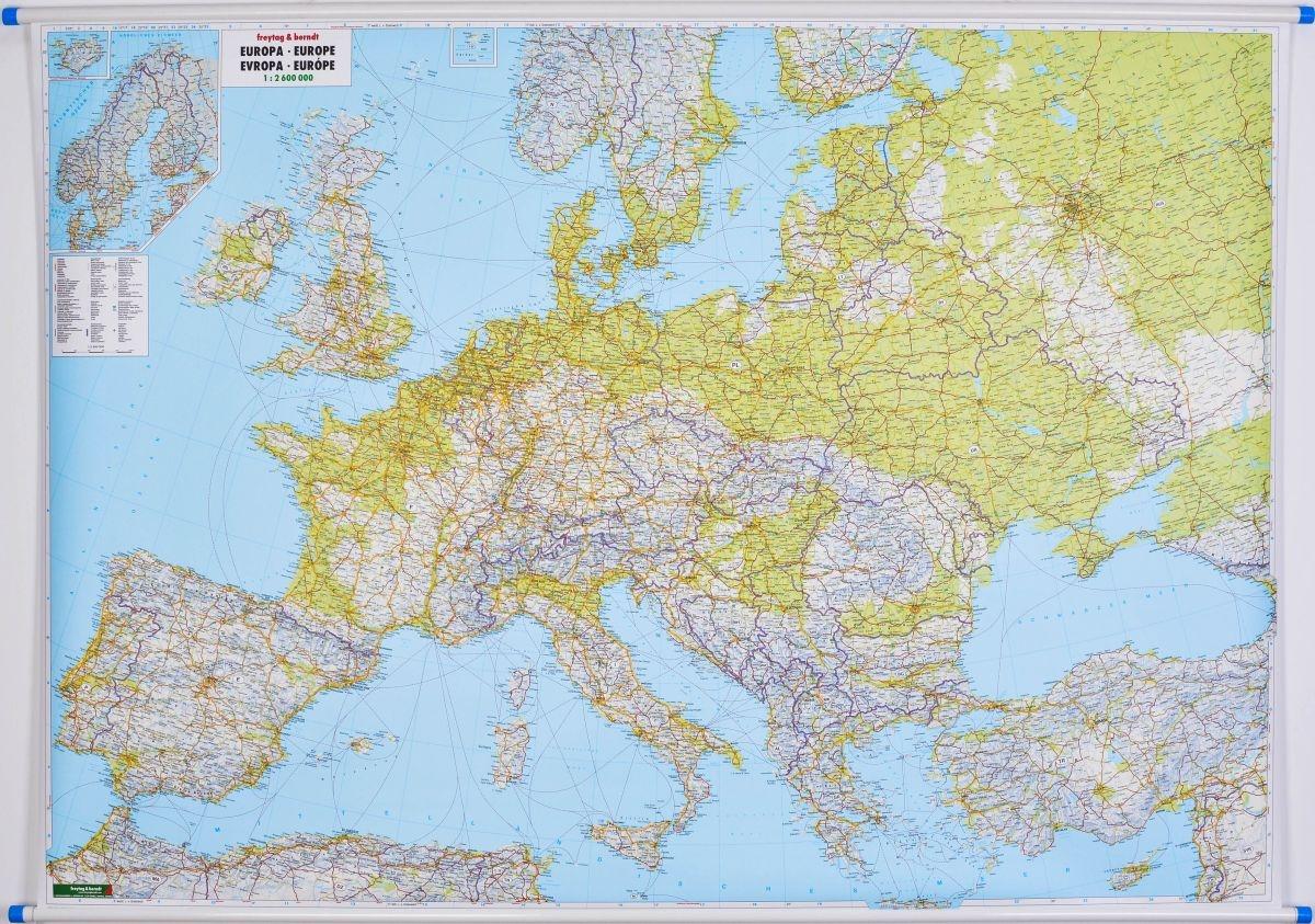 Mapa Scienna Europa Fiz Drog 1 2 6 Mln Wym 180x120cm F B