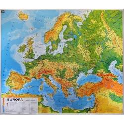 Europa Ogólnogeograficzna z wersją do ćwiczeń 180x150cm. Mapa ścienna dwustronna.