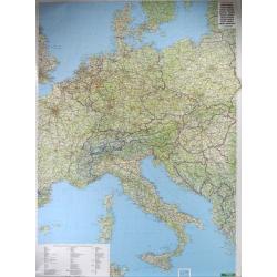 Europa Środkowa Pol-drog. 1:2mlnF&B Mapa ścienna