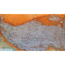 Tybet fizyczno-drogowa 131x86 cm. Mapa ścienna.