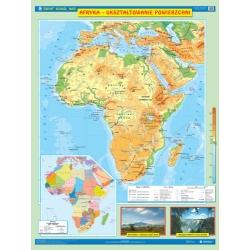 Afryka ukształtowanie powierzchni (fizyczna)/krajobrazowa 120x160cm. Mapa ścienna dwustronna.