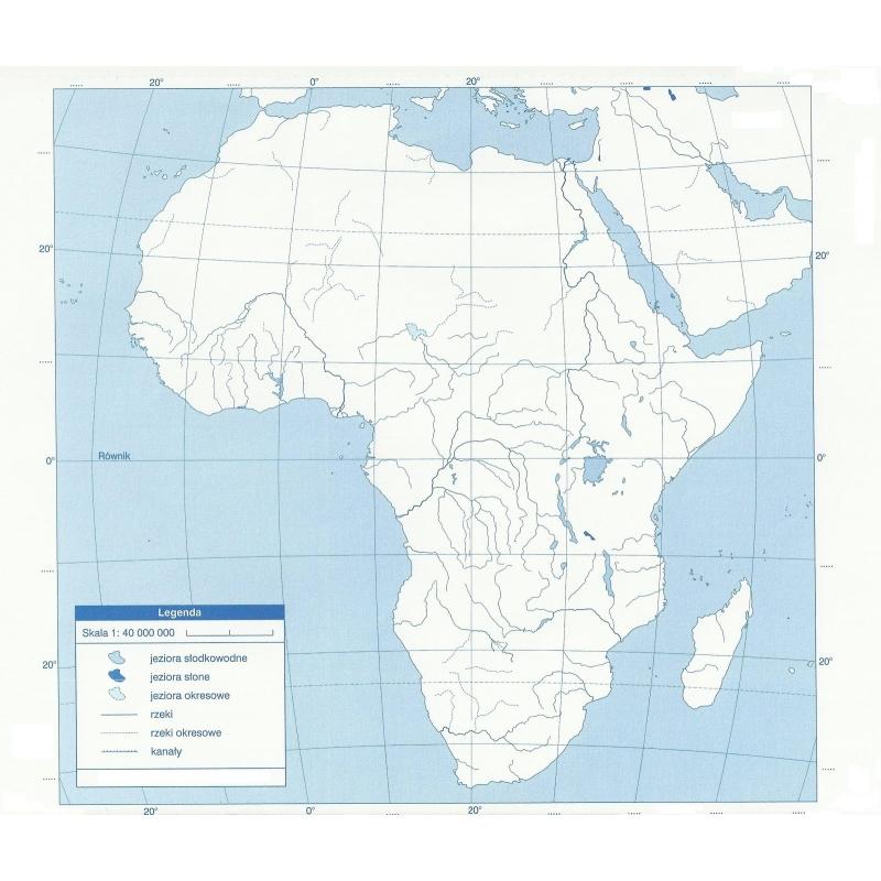 Mapa Scienna Dw Afryka Polityczna Konturowa 1 8mln Wym 106x140cm Ne