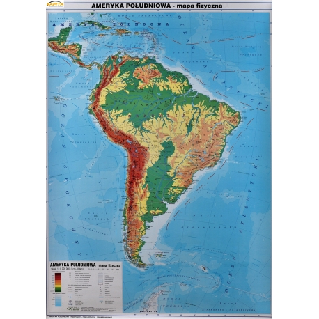 Mapa Scienna Dw Ameryka Pld Polit Fiz 1 8 Mln Wym 104x140cm Pietka