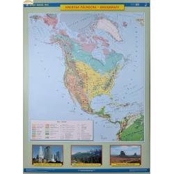 Ameryka Północna 1:9 mln Nowa Era Mapa ścienna 120x160cm