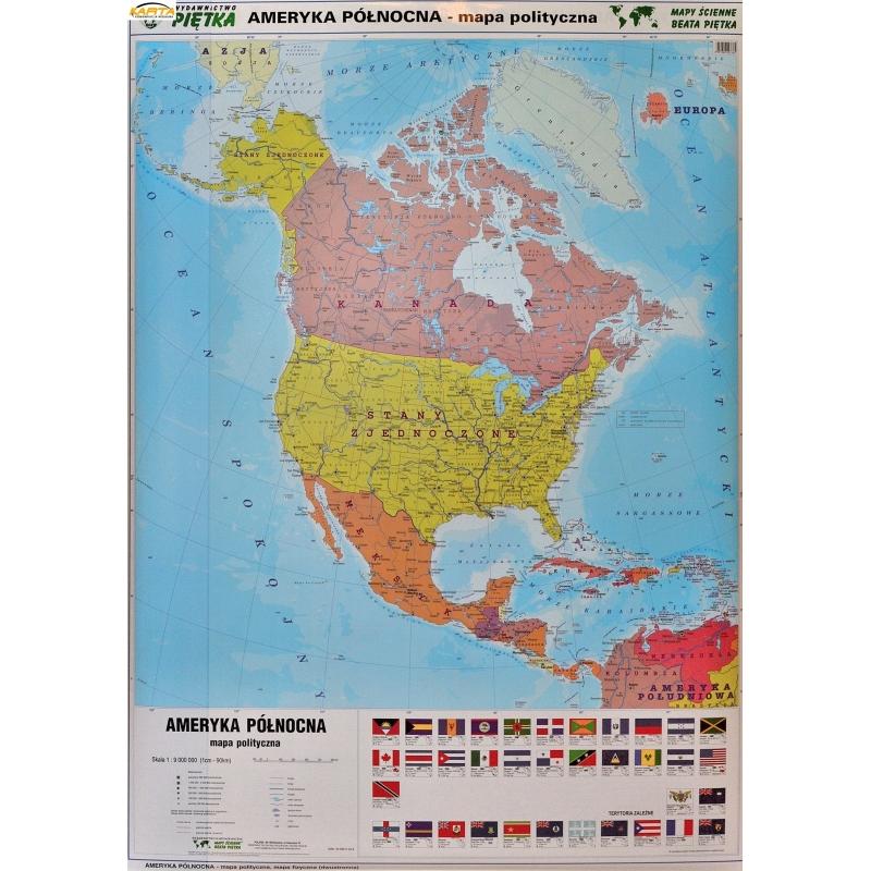 Mapa Scienna Dw Ameryka Pln Polit Fiz 1 9 Mln Wym 104x138cm Pietka