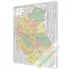 Lubelskie 100x120 cm. Mapa magnetyczna.