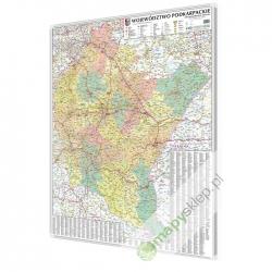 Podkarpackie 100x120 cm. Mapa magnetyczna.
