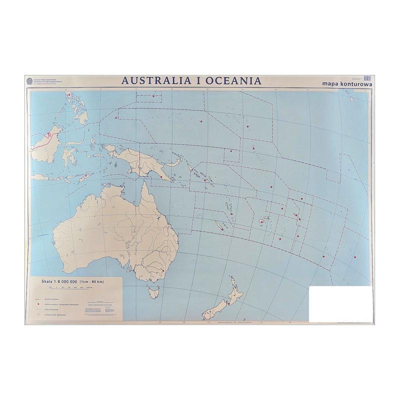 Mapa Scienna Dw Australia I Oce Pol Kont 1 8mln 160x120cm Nowa Era
