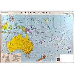 Australia Polityczna/konturowa 160x120cm. Mapa ścienna dwustronna.