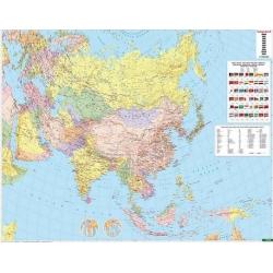 Azja polityczna 163x120cm. Mapa ścienna.