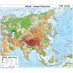 Azja Polityczna/fizyczna 166x140cm. Mapa ścienna dwustronna.