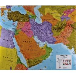 Bliski Wschód polityczna 124x100cm. Mapa ścienna.