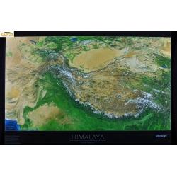 Himalaje fizyczna. Panorama 105x70cm. Mapa ścienna.