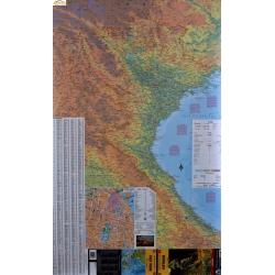 Wietnam fizyczno-drogowa 67x102cm. Mapa ścienna.