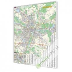 Poznań 100x140 cm. Mapa w ramie aluminiowej.