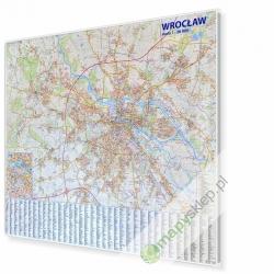 Wrocław 135x120 cm. Mapa w ramie aluminiowej.