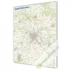 Wrocław/Okolice Wrocławia 125x150 cm. Mapa w ramie aluminiowej.