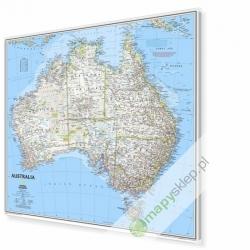 Australia 76x67 cm. Mapa w ramie aluminiowej.