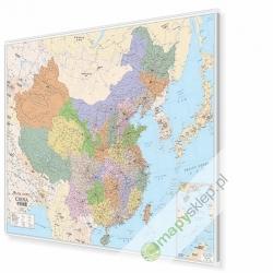 Chiny administracyjno-drogowa 134x95cm. Mapa w ramie aluminiowej.